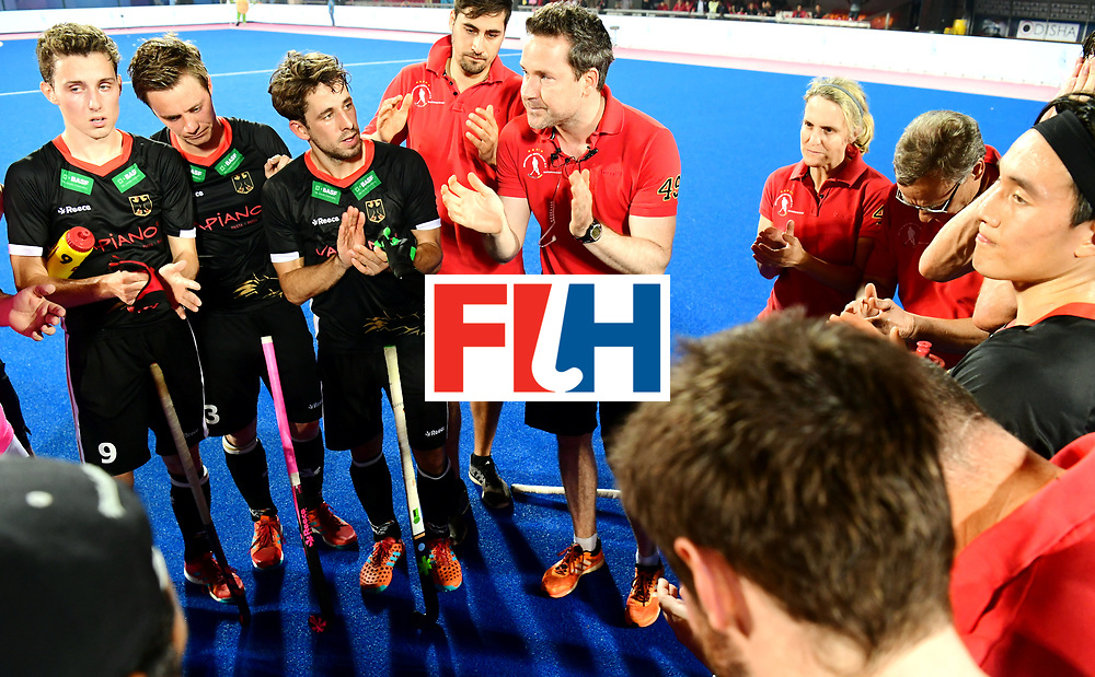 Odisha Men's Hockey World League Final Bhubaneswar 2017<br /> Match id:21<br /> India v Germany<br /> Foto: coach Stefan Kermas (Ger) <br /> after the lost match against India<br /> COPYRIGHT WORLDSPORTPICS FRANK UIJLENBROEK