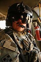 19 Dec 2006, Iraq --- Gunner on Black Hawk --- Image by © Owen Franken/Corbis