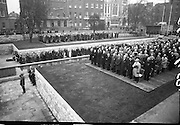 11/04/1966<br /> 04/11/1966<br /> 11 April 1966<br /> 1916 Jubilee Commemorations- Opening and Blessing Ceremony at the Garden of Remembrance, Parnell Square, Dublin. Image shows a view of the crowd at the Garden and the ceremony.