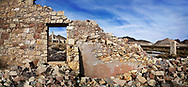 The Remnant Of A Bygone Era, Sunset Over A Crumbling Building At Rhyolite Nevada, An Abandoned Town Near Death Valley