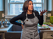 27 NOVEMBER 2019 - DES MOINES, IOWA: US Senator KAMALA HARRIS (D-CA) talks about her family's Thanksgiving traditions while preparing a Thanksgiving meal for her family in Des Moines Wednesday. Sen. Harris is spending the holiday weekend in Des Moines. Senator Harris is running to be the Democratic nominee for the US Presidency in 2020. Iowa hosts the first selection event of the presidential election season. The Iowa caucuses are February 3, 2020.                      PHOTO BY JACK KURTZ
