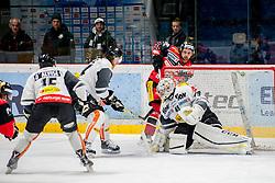 08.01.2017, Ice Rink, Znojmo, CZE, EBEL, HC Orli Znojmo vs Dornbirner Eishockey Club, 41. Runde, im Bild v.l. Christopher Dalvise (Dornbirner) Michael Caruso (Dornbirner) Jiri Beroun (HC Orli Znojmo) Florian Hardy (Dornbirner) // during the Erste Bank Icehockey League 41th round match between HC Orli Znojmo and Dornbirner Eishockey Club at the Ice Rink in Znojmo, Czech Republic on 2017/01/08. EXPA Pictures © 2017, PhotoCredit: EXPA/ Rostislav Pfeffer