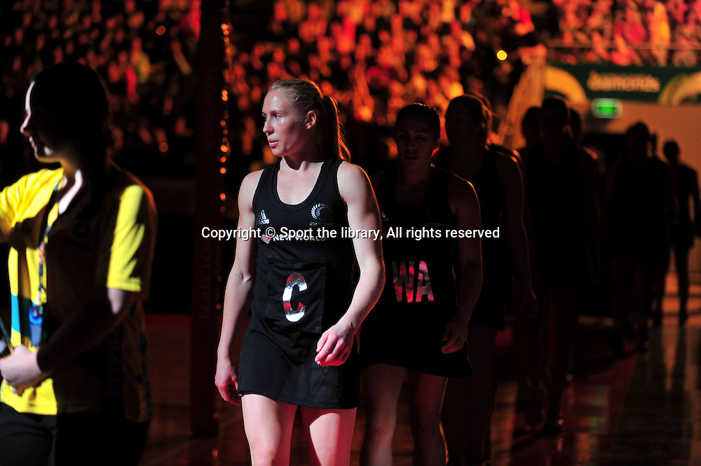 Opening - Laura Langman (NZ)<br /> 2011 Holden Netball Test Series<br /> Australia vs New Zealand <br />  Sunday 30 October 2011<br /> Hisense Arena/ Melbourne Australia <br /> &copy; Sport the library / Jeff Crow