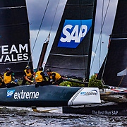 SAP Extreme Sailing Team - 2018 (DEN)<br /> Having emerged triumphant in 2017, SAP Extreme Sailing Team returns for yet another epic on the water battle. Skippered by World Match Racing Tour champion, Rasmus Køstner and coached by the team's co-founder Jes Gram-Hansen, the Danish team heads into their seventh Series in 2018.<br /> <br /> Kiwi Adam Minoprio returns to the helm, accompanied by three-time America's Cup sailor Pierluigi de Felice as headsail trimmer. Swedish Youth America's Cup sailor Julius Hallström and British Moth sailor Richard Mason complete the crew for 2018.<br /> <br /> The Danish flagged syndicate is backed by world-leading software and software-services provider SAP, who is also the Series' Official Technical Partner.