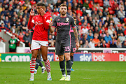 Leeds United defender Stuart Dallas (15)  during the EFL Sky Bet Championship match between Barnsley and Leeds United at Oakwell, Barnsley, England on 15 September 2019.