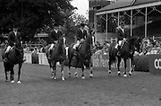 07/08/1987<br /> 08/07/1987<br /> 07 August 1987<br /> Bank of Irelands Nations Cup for the Aga Khan trophy competition at the Dublin Horse Show at the RDS, Dublin. The French team.