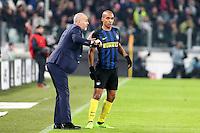 05.02.2017- Torino - Serie A 2016/17 - 23a giornata  -  Juventus-Inter nella  foto: Stefano Pioli e Joao Mario
