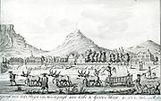 View of the Parade and Heerengracht (now Adderley Street), Cape of Good Hope, in 1763.