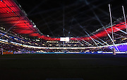 Twickenham stadium in the dark before the Rugby World Cup Pool A match between England and Wales at Twickenham, Richmond, United Kingdom on 26 September 2015. Photo by David Charbit.