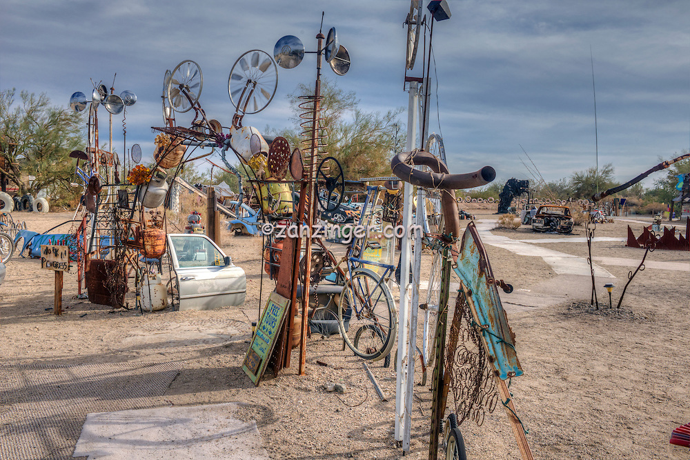 Art installation located in the Slab City area
