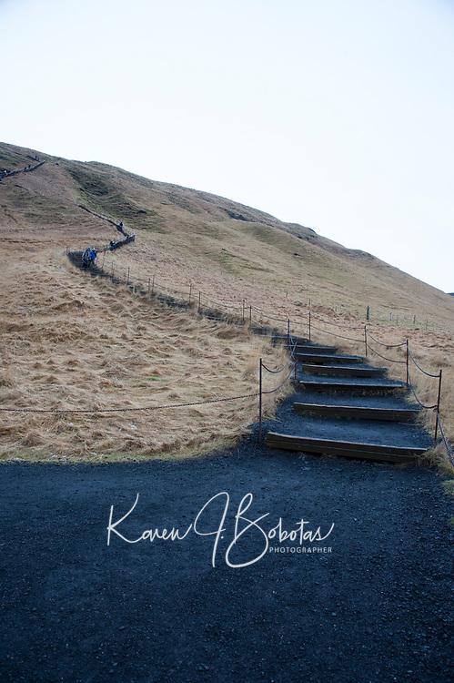 Skogafoss waterfall in Iceland.   ©2019 Karen Bobotas Photographer