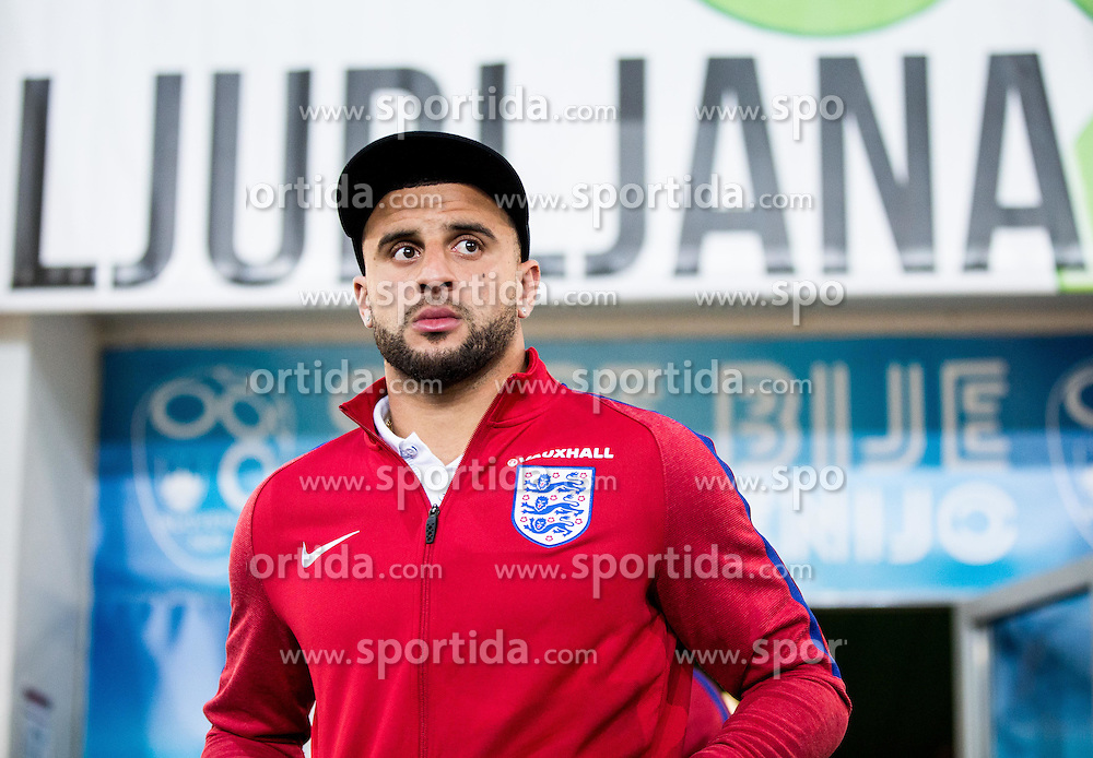 Kyle Walker during pitch check of Team England 1 day before football match between National teams of Slovenia and England in Round #3 of FIFA World Cup Russia 2018 qualifications in Group F, on October 10, 2016 in SRC Stozice, Ljubljana, Slovenia. Photo by Vid Ponikvar / Sportida