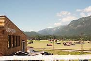 Summer in the valley below the German Alps