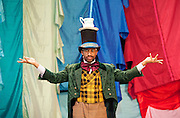 Hip Hop v Ballet <br /> Two Mad Hatters in a Dance off at the Royal Opera House <br /> <br /> <br /> <br /> in a dance off with <br /> <br /> Turbo from Zoo Nation <br /> <br /> at the Clore Studio, Royal Opera House, Covent Garden, London, Great Britain <br /> <br /> <br /> to promote a brand new show The Mad Hatter's Tea Party. <br /> <br /> <br /> 12th November 2013 <br /> <br /> Photograph by Elliott Franks <br /> Image licensed to Elliott Franks Photography Services