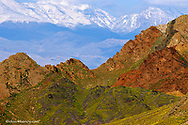 Black Mountains with the Pantamint Range in background in Death Valley National Park in California