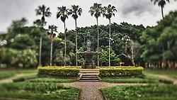 """O Parque Farroupilha, também conhecido como Parque da Redenção, é o parque mais tradicional e popular de Porto Alegre, sendo um local tradicionalmente visitado pelos porto-alegrenses nas horas de descanso, seja para praticar esportes ou simplesmente tomar um chimarrão com a família. Entre os diversos recantos está a """"Fonte Francesa"""",  trata-se de um magnífico chafariz de ferro, doado pelo governo da França no século IXX, disposto no centro de uma área circundada por Palmeiras-da-Califórnia, que lembram um oásis. FOTO: Jefferson Bernardes/Preview.com"""