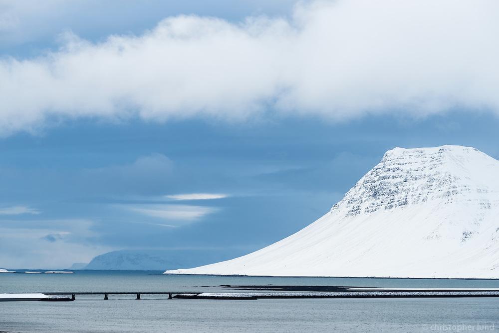 Kolgrafarfjörður in winter, Snæfellsnes Peninsula, West Iceland.