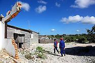 Hurricane damage in La Bajada, Pinar del Rio, Cuba.