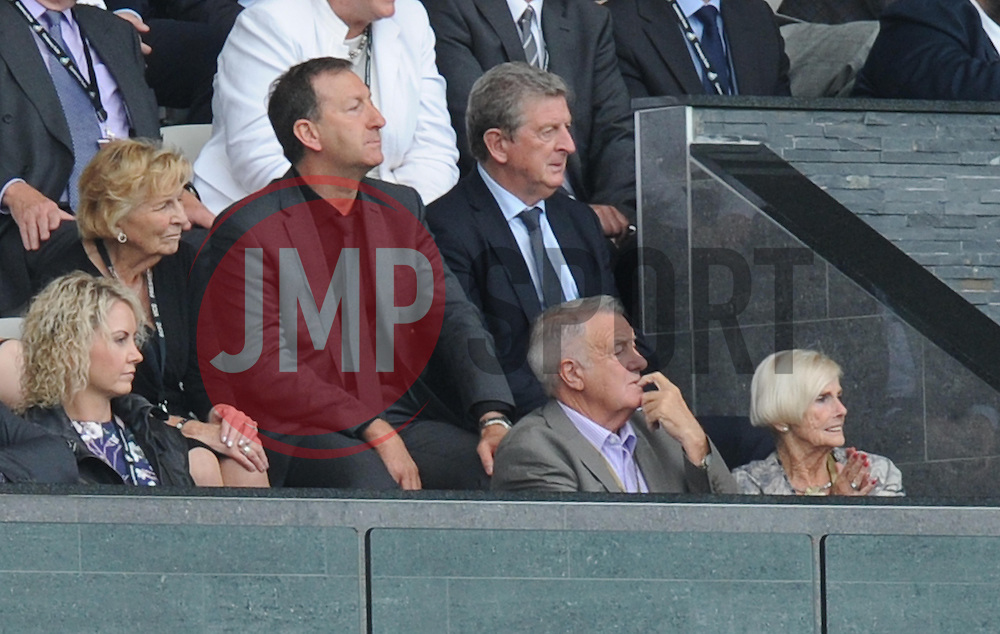 England manager Roy Hodgson watches from the stands at the Liberty Stadium<br />  - Photo mandatory by-line: Alex James/JMP - Mobile: 07966 386802 20/09/2014 - SPORT - FOOTBALL - Swansea - Liberty Stadium - Swansea City v Southampton  - Barclays Premier League