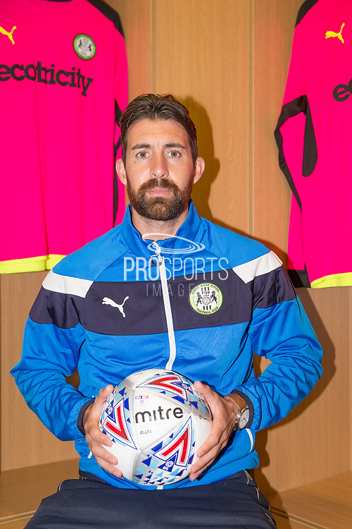Sam Russell signs a contract with Forest Green Rovers Signing at the New Lawn, Forest Green, United Kingdom on 23 June 2017. Photo by Shane Healey.