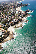 Aerial Stock Photo of Laguna Beach Looking South