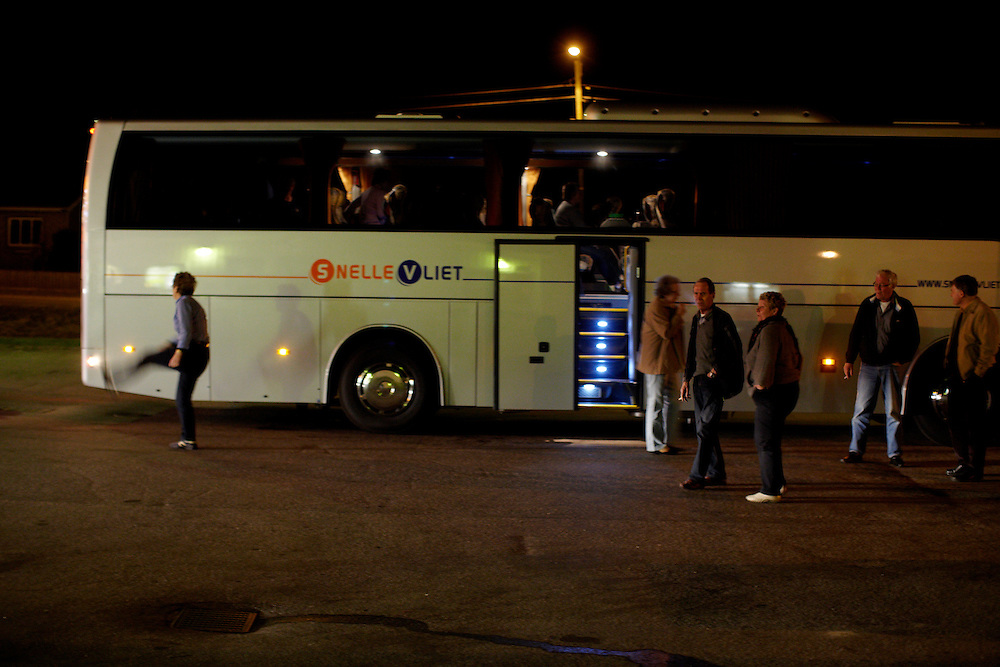 Sweden, 17.04.10..Due to the closed airspace over Europe, a group of 24 norwegian retirees hired a bus for 9300 euro, and embarked on the 20 hour roadtrip back home from vacation...Photo by: Eivind H. Natvig/MOMENT