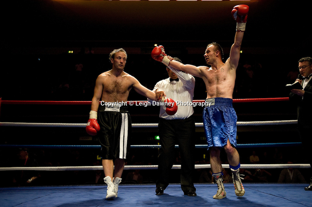 Gavin Putney defeated by Danny Dontchev at Watford Colusseum 29 November 2009 Promoter Mickey Helliet, Hellraiser Promotions: Credit: ©Leigh Dawney Photography