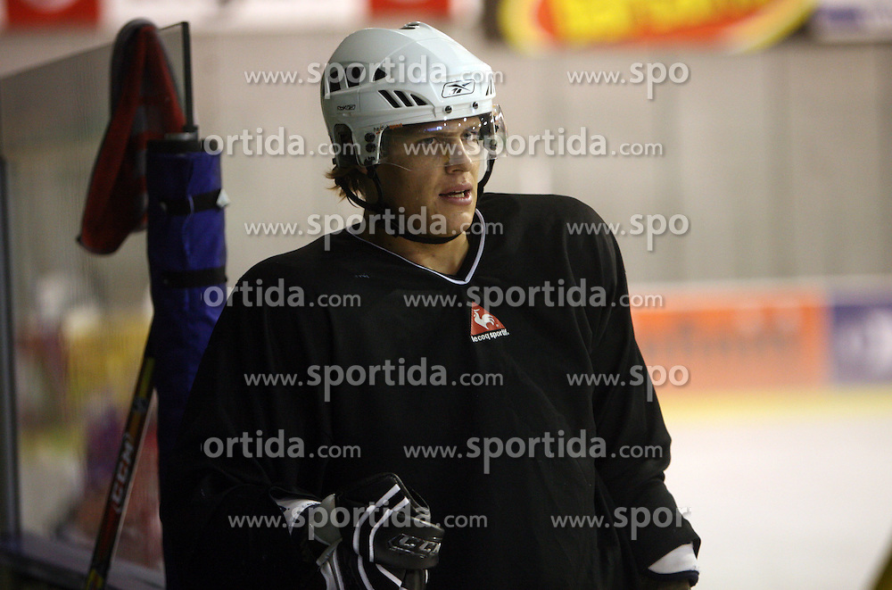 Jure Kralj at second ice hockey practice of HDD Tilia Olimpija on ice in the new season 2008/2009, on August 19, 2008 in Hala Tivoli, Ljubljana, Slovenia. (Photo by Vid Ponikvar / Sportal Images)