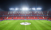 SEVILLE, SPAIN - NOVEMBER 01:  General view of the stadium during the UEFA Champions League group E match between Sevilla FC and Spartak Moskva at Estadio Ramon Sanchez Pizjuan on November 1, 2017 in Seville, Spain.  (Photo by Aitor Alcalde Colomer/Getty Images)