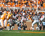 Ole Miss quarterback Jeremiah Masoli (8) in a college football game at Neyland Stadium in Knoxville, Tenn. on Saturday, November 13, 2010. Tennessee won 52-14.