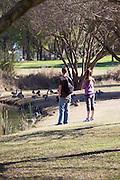 Young Couple At El Dorado Regional Park In Long Beach California