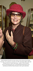 MRS FIERRA FONDA former wife of the late actor Peter Fonda, at a party in London on 9th October 2001.OSX 25