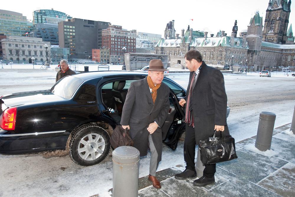Karel De Gucht, European Commissioner for Trade arrives on Parliament Hill in Ottawa, Canada December 15, 2010.<br /> AFP/GEOFF ROBINS/STR