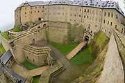 Fortress of Koenigstein in Saxony, Germany.