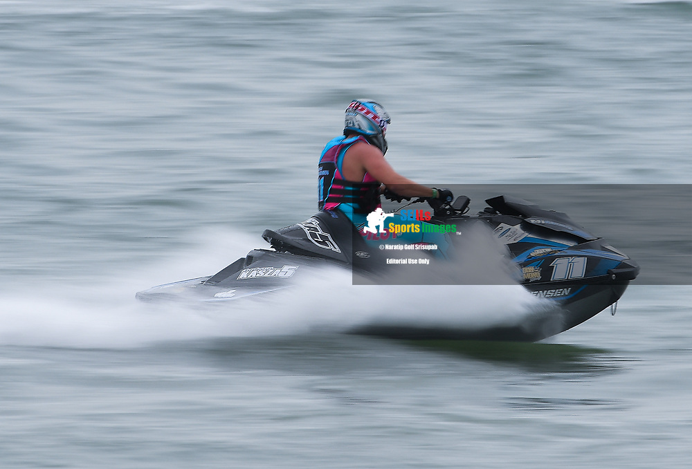 PATTAYA, THAILAND - DECEMBER 09: Marcus Jorgensen (11) of Denmark / MJ Racing in action during the Pro Runabout GP Moto3 at the Thai Airways International Jet Ski World Cup 2018, Jomtien Beach, Pattaya, Thailand on December 09, 2018. <br /> .<br /> .<br /> .<br /> (Photo by: Naratip Golf Srisupab/SEALs Sports Images)<br /> .<br /> Any image use must include a mandatory credit line adjacent to the content which should read: Naratip Golf Srisupab/SEALs Sports Images