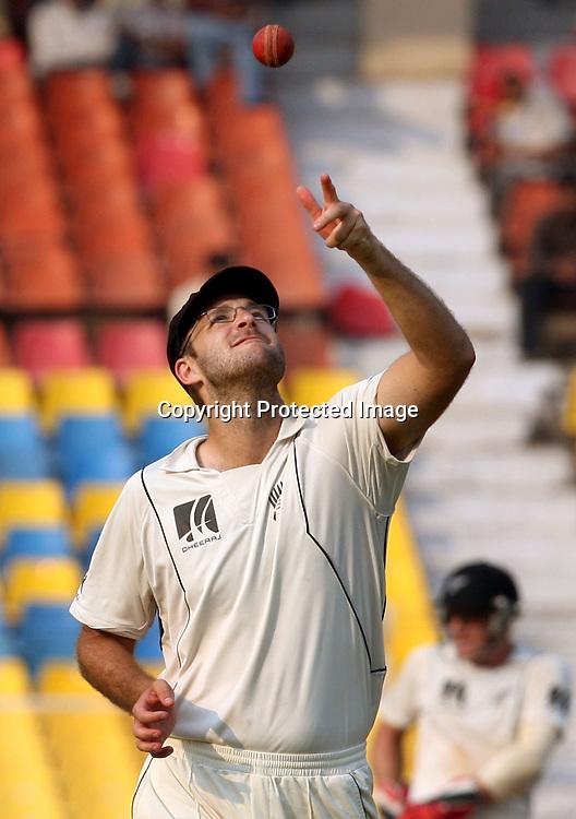 New Zealand Captain Daniel Vettori During The India vs New Zealand 1st Test Match Played at Sardar Patel Stadium, Motera, Ahmedabad 7, November 2010 (5-day match)