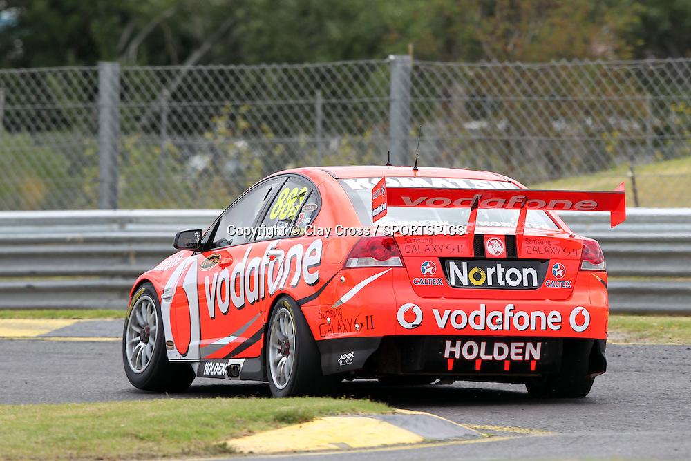 Craig Lowndes (TeamVodafone Holden). 2012 V8 Supercar Championship Series Test Day. Sandown International Raceway, Melbourne Victoria on Saturday 11 February 2012. Photo : Clay Cross / photosport.co.nz