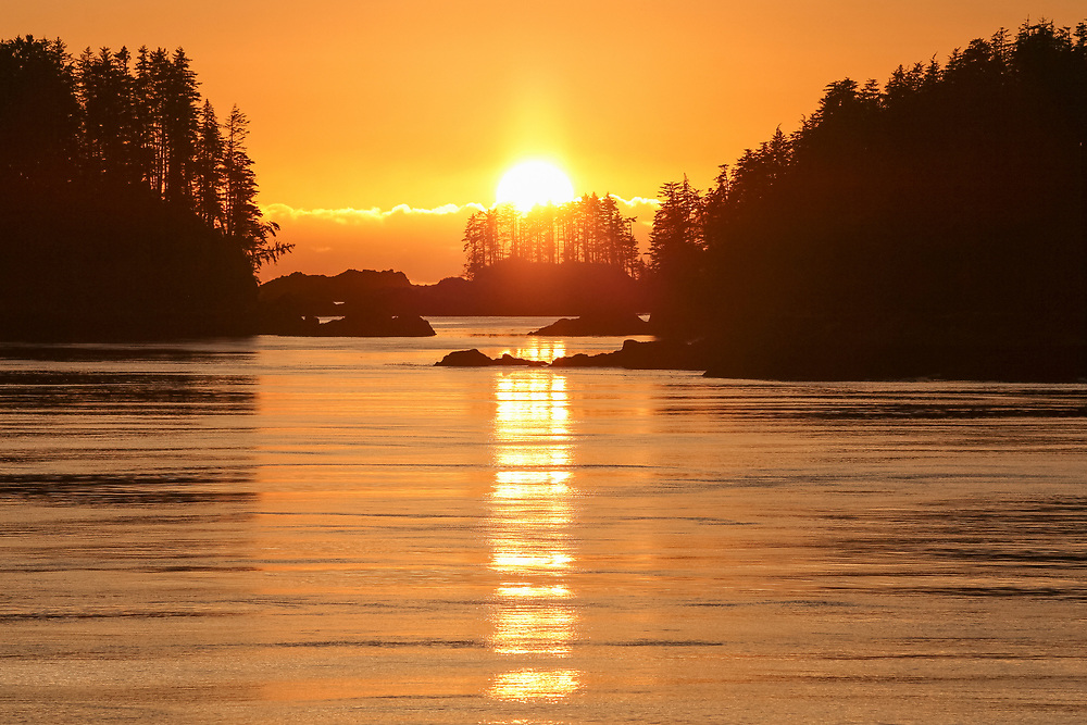 Sunset over ocean in Southeast Alaska, Taken 10.13