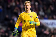 Charlton Athletic goalkeeper (on loan from Bolton Wanderers) Ben Amos (1) during the EFL Sky Bet League 1 match between Milton Keynes Dons and Charlton Athletic at stadium:mk, Milton Keynes, England on 17 February 2018. Picture by Dennis Goodwin.