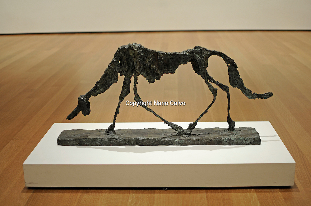 Masterpieces by swiss artist, Alberto Giacometti, exhibited at the MOMA of New York