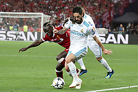 KIEV, UKRAINE - MAY 26: Sadio Mane of Liverpool competes with Dani Carvajal of Real Madrid during the UEFA Champions League final between Real Madrid and Liverpool at NSC Olimpiyskiy Stadium on May 26, 2018 in Kiev, Ukraine. (MB Media)