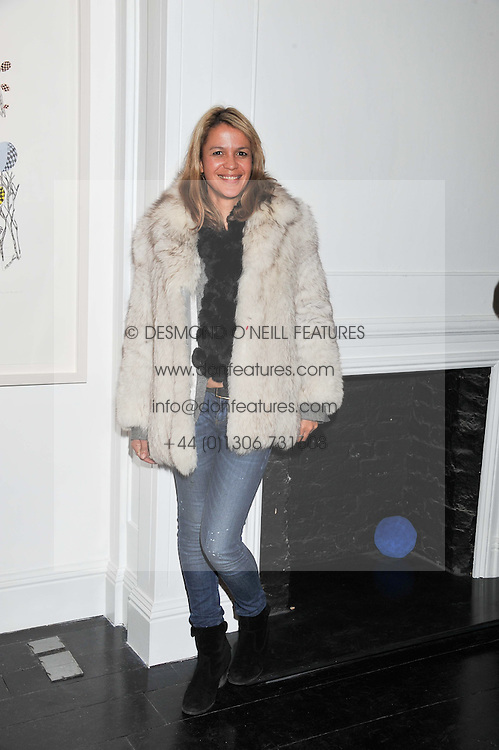LISA MOORISH at a private view of art works by Annie Morris entitled 'There is A Land Called Loss' held at Pertwee Anderson & Gold Gallery, 15 Bateman Street, London W1 on 2nd February 2012.