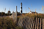 NC00886-00....NORTH CAROLINA -  Cape Lookout Lighthouse on the South Core Banks in Cape Lookout National Seashore.