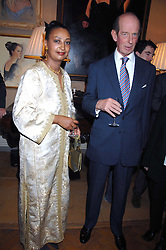 PRINCESS ERMIAS SAHLE-SELASSIE HAILE-SELASSIE OF ETHIOPIA and HRH THE DUKE OF KENT at a private view of portraits, Still-Lives and Statues by artists Barbara Kaczmarowska Hamilton and Simon Boudard held at Partridge Fine Art Ltd, New Bond Street, London on 16th May 2007.<br />