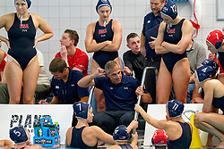Coach Adam Krikorian of USA in action during the friendly match Netherlands vs USA on February 19, 2020 in Amerena Amersfoort.