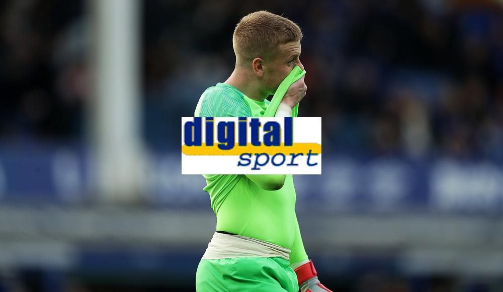 Football - 2018 / 2019 Premier League - Everton vs. West Ham United<br /> <br /> Jordan Pickford of Everton react after the match at Goodison Park.<br /> <br /> COLORSPORT/LYNNE CAMERON