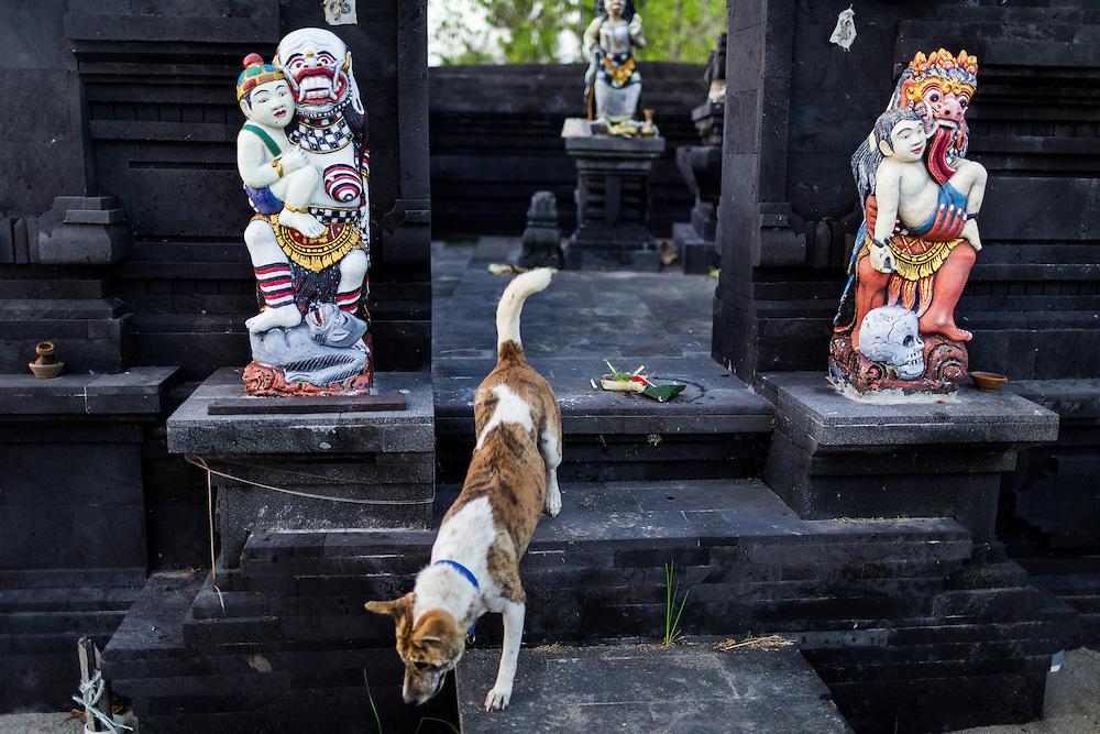 Balinese Temple at Batubolong beach in Canggu.