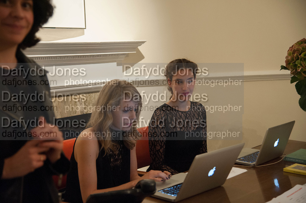 EVA FUCHS; CARMEN KABEL, Opening of Morris Lewis: Cyprien Gaillard. From Wings to Fins, Sprüth Magers London Grafton St. London. Afterwards dinner at Simpson's-in-the-Strand hosted by Monika Spruth and Philomene Magers.