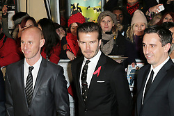 © Licensed to London News Pictures. Former Manchester United footballers Nicky Butt, David Beckham, Gary Neville attend The Class of 92  World Film Premiere at The Odeon West End, Leicester Square, London on 01 December 2013. Photo credit: Richard Goldschmidt/LNP