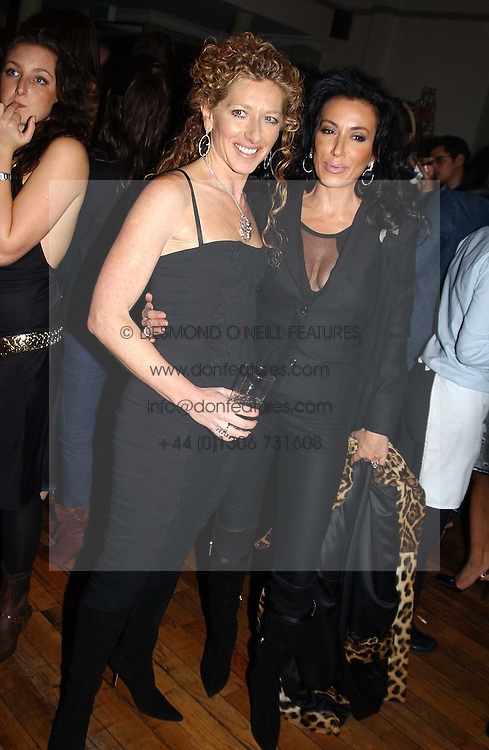 Left to right, KELLY HOPPEN and NANCY DELL'OLIO at a party to celebrate the publication of Style by interior designer Kelly Hoppen held at 50 Cheyne Walk, London on 10th November 2004.<br /><br />NON EXCLUSIVE - WORLD RIGHTS